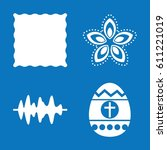 set of 4 pattern filled icons... | Shutterstock .eps vector #611221019