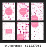 covers with flat geometric...   Shutterstock .eps vector #611227061