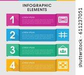 modern gallery infographic... | Shutterstock .eps vector #611237051