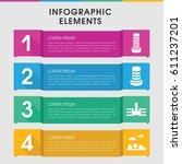 modern downtown infographic... | Shutterstock .eps vector #611237201