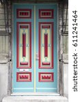 old doors. | Shutterstock . vector #611241464