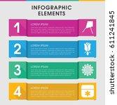 modern blossom infographic... | Shutterstock .eps vector #611241845