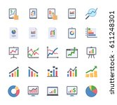 Business Graphs   Charts Icons...