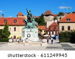 eger  hungary   september 21 ... | Shutterstock . vector #611249945