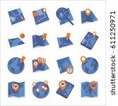 maps   navigation icons   set 1   Shutterstock .eps vector #611250971