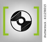 vector cd or dvd sign. vector.... | Shutterstock .eps vector #611258315
