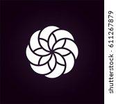 flower logo vector | Shutterstock .eps vector #611267879