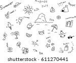 summer icons | Shutterstock .eps vector #611270441