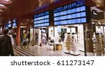 departure table at prague...   Shutterstock . vector #611273147