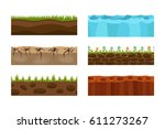 cross section ground slice... | Shutterstock .eps vector #611273267