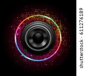 speaker music icon | Shutterstock .eps vector #611276189