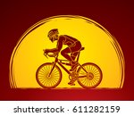 bicycle racing designed on... | Shutterstock .eps vector #611282159