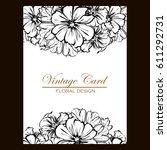 vintage delicate invitation... | Shutterstock .eps vector #611292731