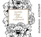 vintage delicate invitation... | Shutterstock .eps vector #611293649