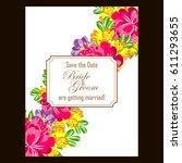 vintage delicate invitation... | Shutterstock .eps vector #611293655