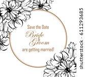 vintage delicate invitation... | Shutterstock .eps vector #611293685
