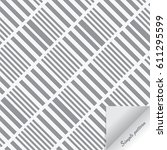 geometric vector pattern.... | Shutterstock .eps vector #611295599