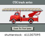 classic coe  cab over engine ... | Shutterstock .eps vector #611307095