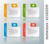 vector abstract 3d paper... | Shutterstock .eps vector #611322245