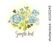 folk floral background | Shutterstock .eps vector #61132243