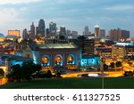 downtown kansas city missouri... | Shutterstock . vector #611327525
