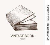 Vintage Book Hand Draw Sketch...