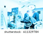 blur of two veterinarian... | Shutterstock . vector #611329784