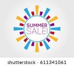 summer sale. label design... | Shutterstock .eps vector #611341061