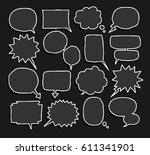 balloon speech doodle set | Shutterstock .eps vector #611341901