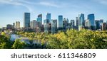downtown calgary skyline on a... | Shutterstock . vector #611346809