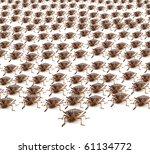 Large Crowd Of Brown Marmorate...