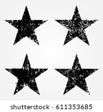 set of grunge stars.vector... | Shutterstock .eps vector #611353685