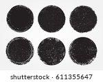 set of grunge post stamps... | Shutterstock .eps vector #611355647