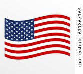usa waving flag icon. united... | Shutterstock .eps vector #611367164