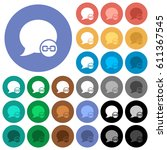 blog comment attachment multi... | Shutterstock .eps vector #611367545