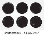 vector grunge circles... | Shutterstock .eps vector #611373914