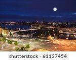 night scene of the stockholm... | Shutterstock . vector #61137454