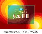 summer sale banner design... | Shutterstock .eps vector #611379935