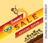 summer sale banner design... | Shutterstock .eps vector #611380019