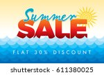 summer sale banner design... | Shutterstock .eps vector #611380025