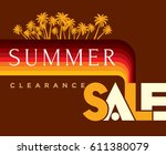 summer sale banner design... | Shutterstock .eps vector #611380079