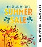 summer sale banner design... | Shutterstock .eps vector #611380151
