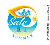 summer sale banner design... | Shutterstock .eps vector #611380175