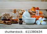 natural spa ingredients and... | Shutterstock . vector #611380634