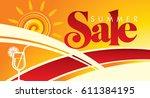 summer sale banner design... | Shutterstock .eps vector #611384195