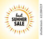 summer sale banner design... | Shutterstock .eps vector #611384219