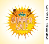 summer sale banner design... | Shutterstock .eps vector #611384291