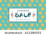 summer sale banner design... | Shutterstock .eps vector #611384351
