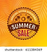summer sale banner design... | Shutterstock .eps vector #611384369