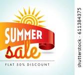 summer sale banner design... | Shutterstock .eps vector #611384375
